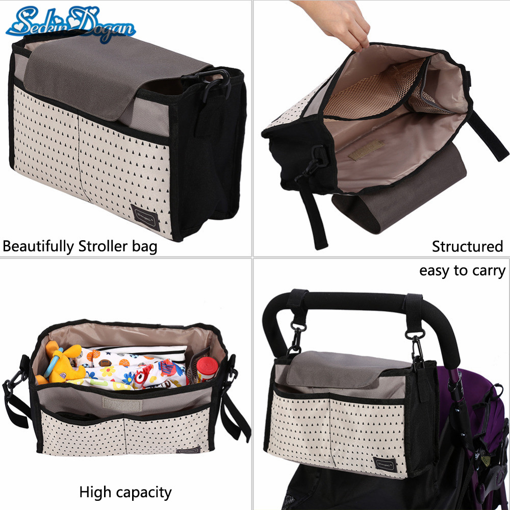 Baby Diaper Bag Large capacity Outddor Travel Stroller Mommy Bag Nylon Waterproof Maternity Care Nappy Bag Fashion Baby Bags
