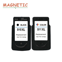 2Pcs PG510 CL511 Ink Cartridges For Canon Pixma MP240 MP250 MP260 MP270 MP280 MP480 MP490 IP2700