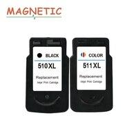 2Pcs Ink Cartridge 510 511 for Canon Pixma MP240 MP250 MP260 MP270 MP280 MP480 MP490 IP2700 printers inkjet PG510 CL511