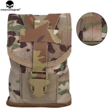 EMERSONGEAR Water Bottle Canteen Pouch Protective Bottle Molle Pouch Tactical Airsoft HuntingTool Pouch Bag Multicam EM6039 onetigris commando water bottle holder tactical bottle pouch molle utility water pouch hook clasp fits nalgene 32oz 1l bushcraft