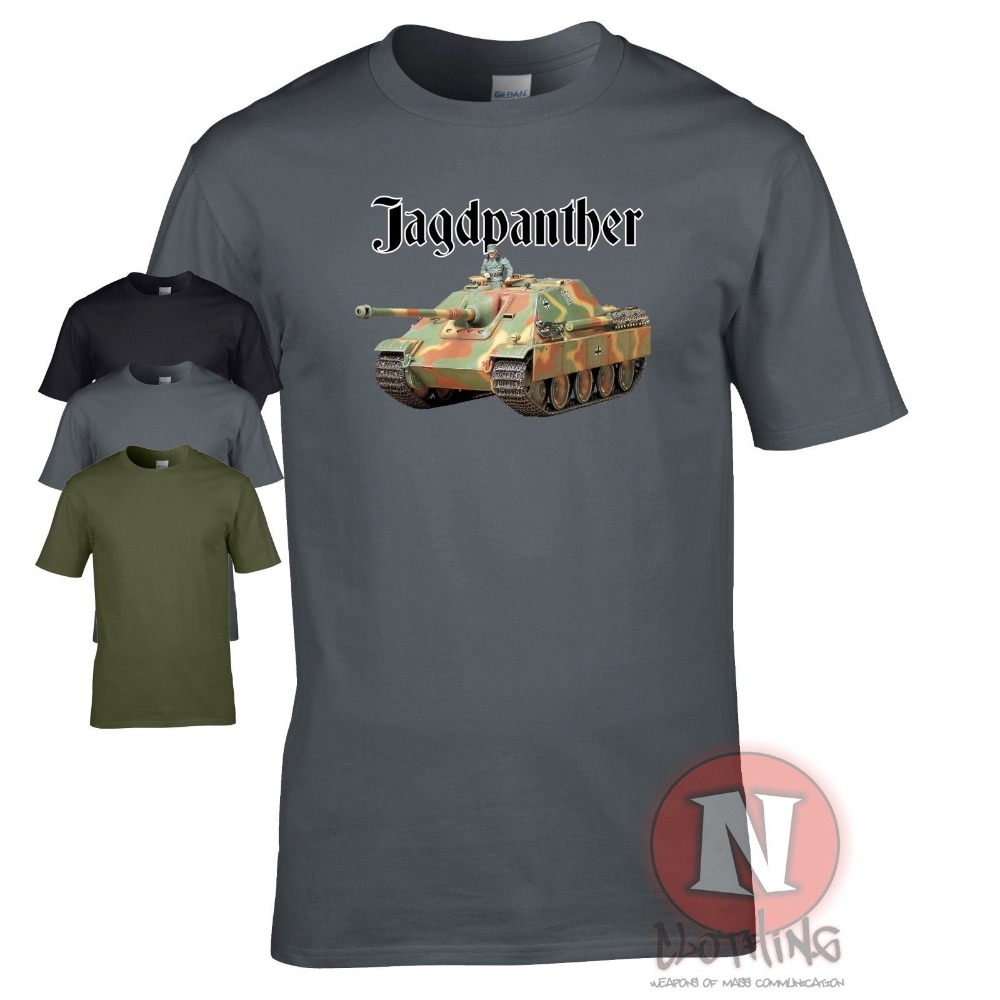 2019 New Short Sleeve Casual Jagdpanther tank destroyer WW2 German military armour T-shirt World of war Tanks cool t shirts image