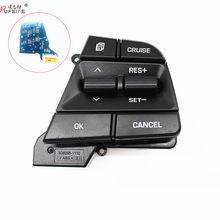 Pufeite para hyundai colar móvel solaris elantra1.6l controle de cruzeiro multifunções volante botão interruptor acessórios do carro