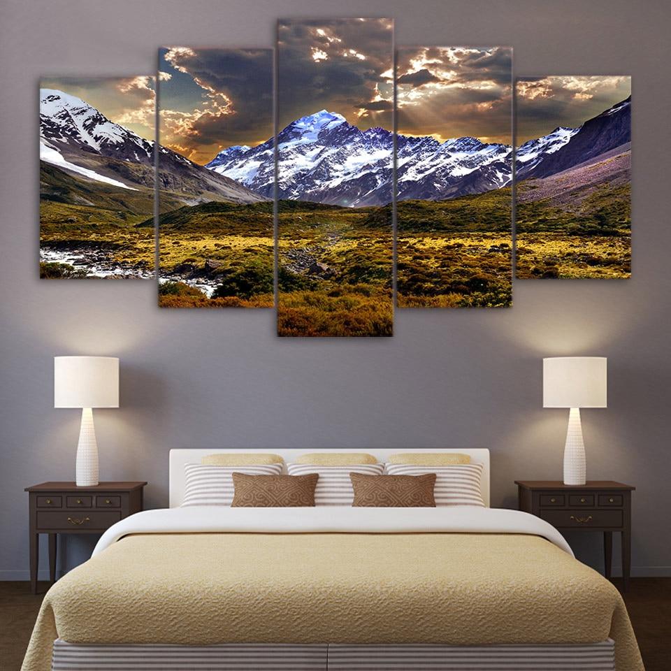 Malerei Leinwand Wandkunst Bild Home Decor 5 Stücke Sky Eis Berg ...