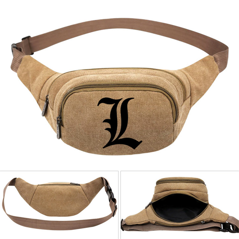 Women Female Casual Functional Fanny Bag Death Note Fairy Tail Waist Bag Pouch Money Phone Belt Bag Cute Purse Bum Bag