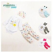Toddler Baby Clothing Fashion Animal Newborn Clothing Set Cute long Sleeve Clothes Set For Babies Carton Baby Girl Bodysuits