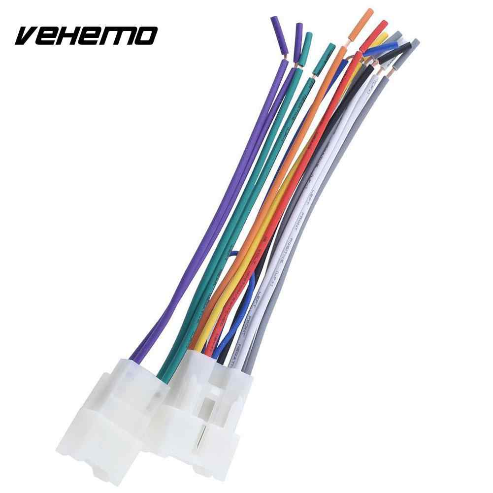 vehemo stereo cd player harness wire aftermarket radio install for toyota scion 4 runner avalon celica [ 1001 x 1001 Pixel ]