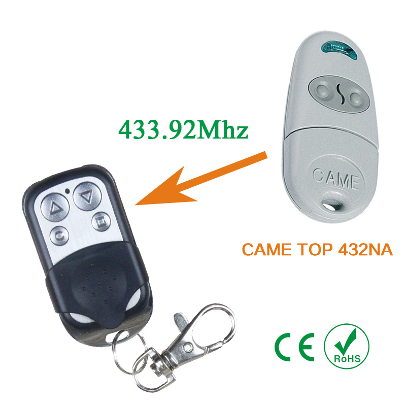 Copy CAME TOP-432NA remote control CAME TOP432NA Duplicator 433.92 mhz remote control Universal Garage Door Gate Fob copy came top432na garage door remote control universal 433mhz gate remote control came top432 na