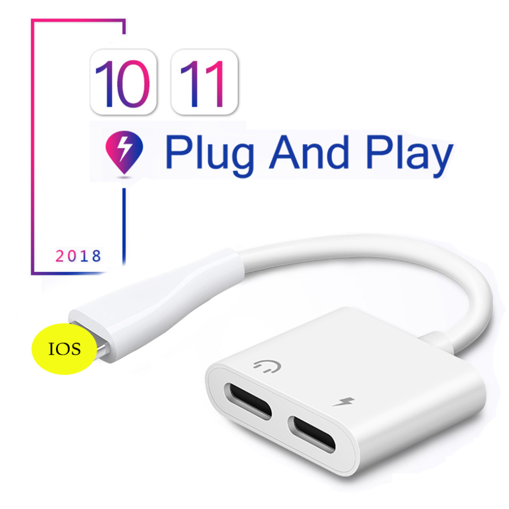 4 in 1 Dual for Lightning Adapter for iphone 7 8 10 X