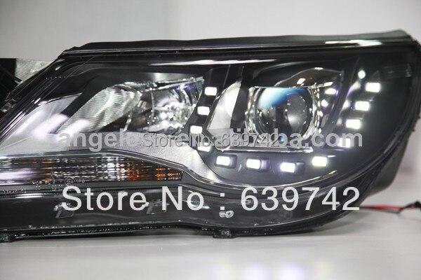 Za VW Tiguan LED prednja svjetla s biksenonskim lećama projektora - Svjetla automobila - Foto 4