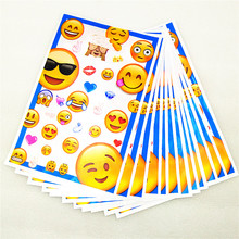 10pcs/lot Gift Bag Emoji Cry Smile Theme Loot Plastic Happy Birthday Party Decoration Supplies for kids baby Shower