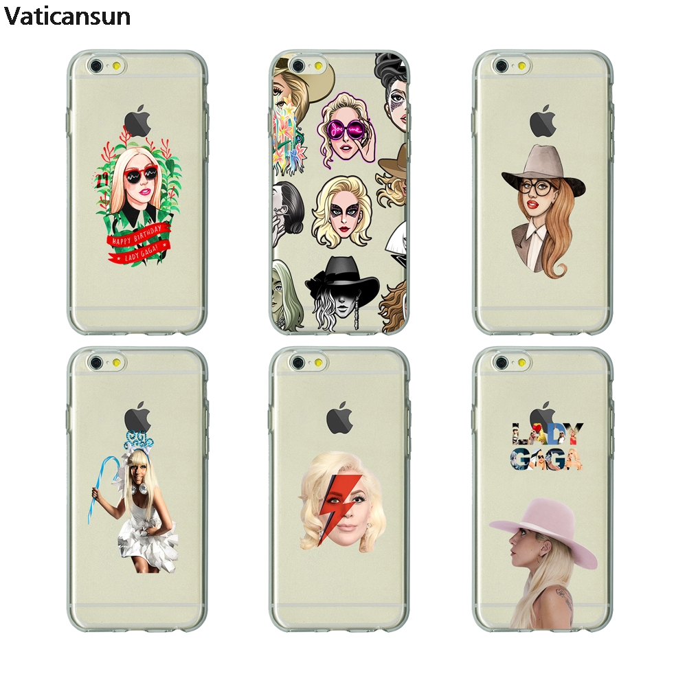 LADY GAGA TPU soft Silicone clear cover phone case for iPhone X 6 7 8 plus 5 5s 6s se for Apple best High Quality Housing