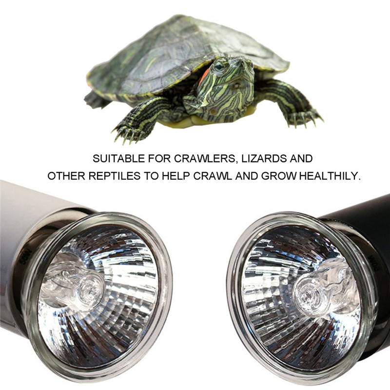 Reptile Basking Spot Climb Pet Lamp Full Spectrum UVA UVB Turtle Tuff Splashproof Halogen Lamp Tortoise Heating Sun Lamp