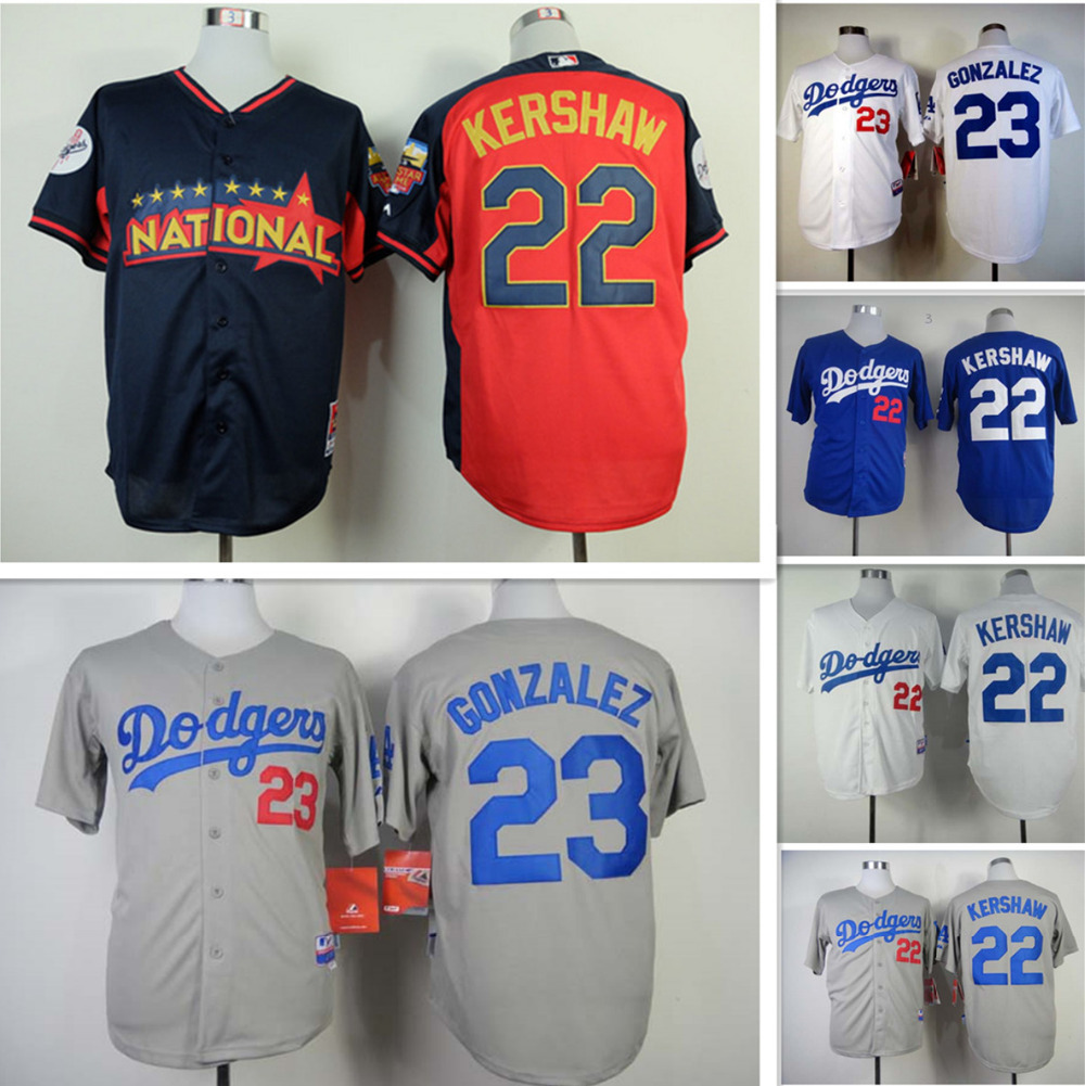 11632a9c4 2015 new Los Angeles Dodgers jerseys shirt Embroidery  22 Clayton Kershaw  Jersey authentic Dodgers shirt custom white gray blue-in Baseball Jerseys  from ...