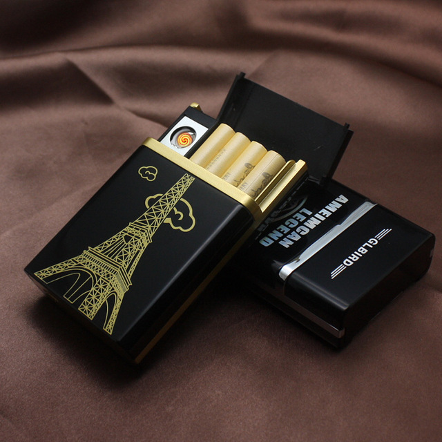 Hot Design Cigarette Box with Lighter Smoking 8pcs Cigarette Case Creative USB Charging Cigarette Lighter & Hot Design Cigarette Box with Lighter Smoking 8pcs Cigarette Case ... Aboutintivar.Com