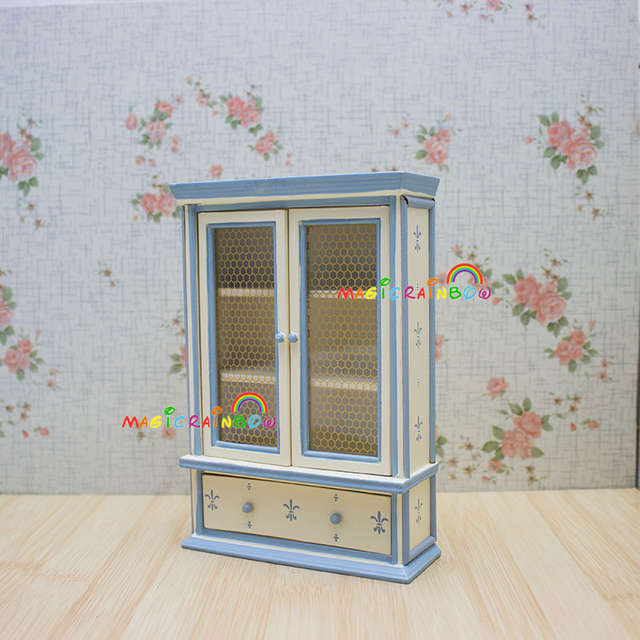 Dollhouse Bedroom Furniture   Dolls House Bedroom Furniture Wardrobe Armoire Cabinet Cupboard Chest Of Drawer Wood Dollhouse Miniatures 1 12