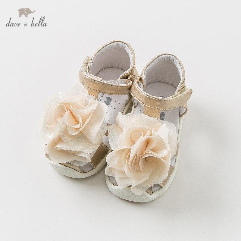 DB9726 Dave Bella été bébé fille sandales nouveau-né bébé chaussures fille sandales princesse chaussures