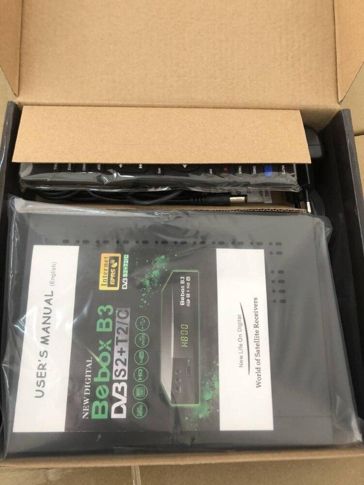 2019 plus récent Bebox B3 DVB S2 + T2 + C combo H.265 hevc gprs powervu autoroll récepteur décodeur avec youtube