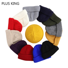 Winter Autumn Hat Pure Colors Landlord Style Hip Hop Knitted Cap Ski for Men Women