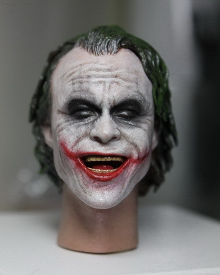 1/6 Batman Joker Heath Ledger Head Sculpture doll Parts for 12inch Action Figure,Body and clothes are not included 1 6 male figure accessories batman joker heath ledger suit for 12 action figure doll not include body head weapon and other