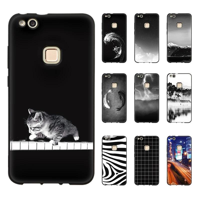 JURCHEN Phone Case For Cover Huawei P10 Lite Case Soft TPU Silicone Case For Etui Huawei P10 Lite Cover Cute Cartoon P10Lite