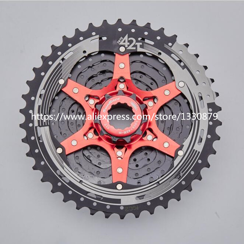 SunRace 10 Speed bicycle freewheel mtb 11-42T freewheel Mountain Bicycle Cassette bike parts 10 speed cassette 11 42t gold mtb cassette 10 speed fit for mountain bike road bicycle mtb bmx sram shimano