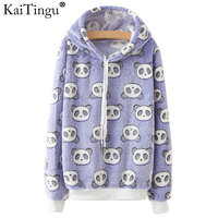 KaiTingu Brand Harajuku Hoodies Sweatshirt Women Kawaii Cute Panda Print For Autumn Autumn Long Sleeve Tracksuit
