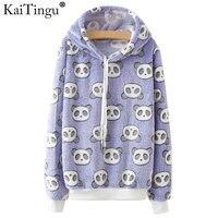KaiTingu Brand Harajuku Hoodies Sweatshirt Women Kawaii Cute Panda Print For Autumn Autumn Long Sleeve Tracksuit