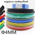 200 medidores/rolo 4mm diâmetro interno calor tubo do psiquiatra calor shrinkable tubulação cabo de isolamento manga 5 cores