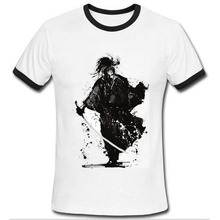 Latest 2016 Japanese Samurai Paint T Shirt Summer Style Short Sleeve Funny T-shirt Men Shirts Hipster Tees Man Tshirt Homme