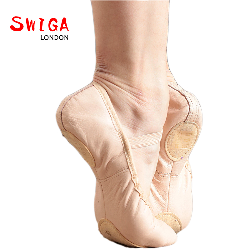 SWIGA leather professional ballet dance shoes Sub bottom
