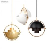 Nordic Metal Gold Pendant Light Multi semi circular Pendant Lamp Kitchen Living Room Hanging Lamp Light Fixtures Home Lighting