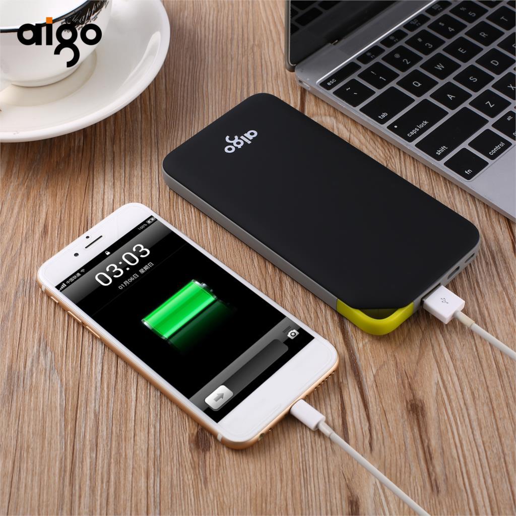 Aigo Power Bank 10000Mah Portable Charger Dual Input Ports for xiaomi mi Powerbank Bateria Externa for iPhone Samsung Xiaomi pad