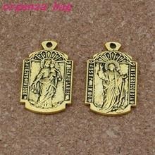 O mi misericordia Medalha de Jesus religião Pingentes Encantos 50 Pcs  18.5x31mm Antique ouro Jóias DIY Fit Pulseiras colar Brinc. e388d03152