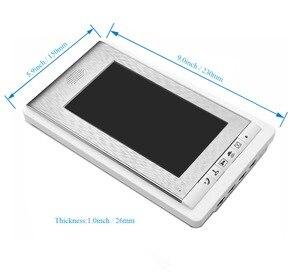 "Image 5 - 2/3/4 Units Apartment intercom system Video Door Phone Intercom Kits Aluminum Alloy Camera 7"" Monitor video Doorbell 7 ID keyfob"