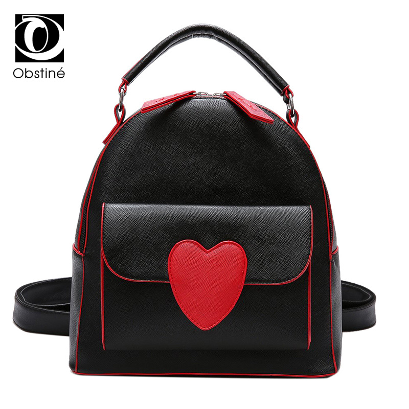 2017 Candy Transparent Love Heart Shape Backpacks Harajuku School Backpack Shoulder Bags For Teenager Girls Book