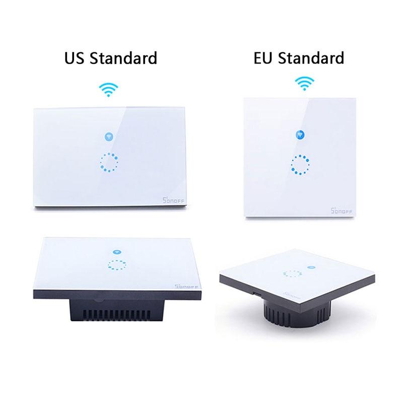 Itead Sonoff Touch EU US Smart Wifi-seina kerge puutetundlik lüliti - Nutikas elektroonika - Foto 2