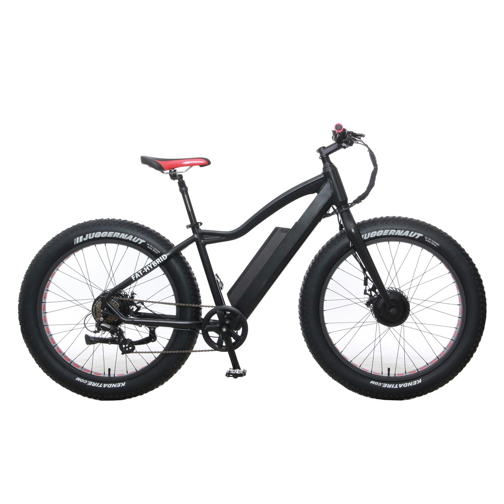 Electric Bike Powerful Fat Tire Electric Mountain Bike double motors AWD eBike Beach Cruiser Electric Snow Bicycle richbit ebike new 21 speeds electric fat tire bike 48v 1000w lithium battery electric snow bike 17ah powerful electric bicycle