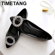 TIMETANG Spring new women singles shoes fashion pointed comfortable PU patent le
