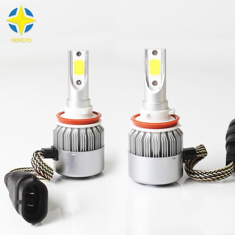2x H11 COB Chip Led Beam 72W Replacement Daytime Running Lights DRL - Car Lights