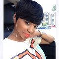 6'' Short Black Pixie Wigs For Black Women Female Wig Synthetic Women Natural Short Black Wig Short Hair Wigs For Black Women