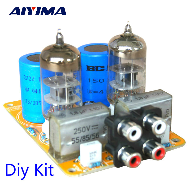 Aiyima Updated Tube Amp Preamp 6N3 Vacuum Tube PreAmplifier SRPP Board Diy Kits Fit for 5670