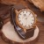 Top Marca de Lujo de Los Hombres Relojes de Cuarzo Relojes De Madera Ocasional de Lona Mujeres de La Moda de Madera de Pulsera relogio masculino