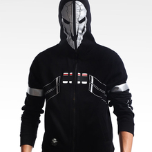 Хлопковая флисовая куртка! Супер Крутая толстовка на молнии с принтом игры OW Reaper M-2XL унисекс