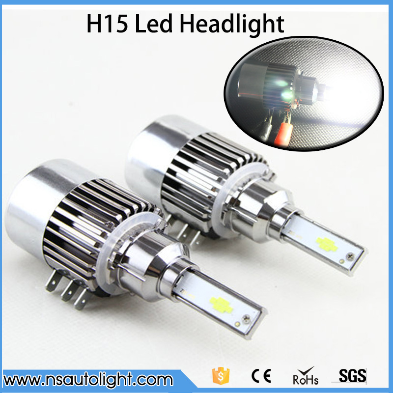 2017 New 144W 15200LM H15 LED Headlight Hi Lo Bulbs Conversion Car Fog Driving Lamp 6000K