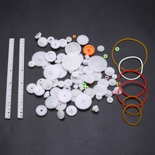 75pcs Plastic Crown Single Double Worm Grear With Belt Pulley DIY Tool Set Mayitr For Robot стоимость