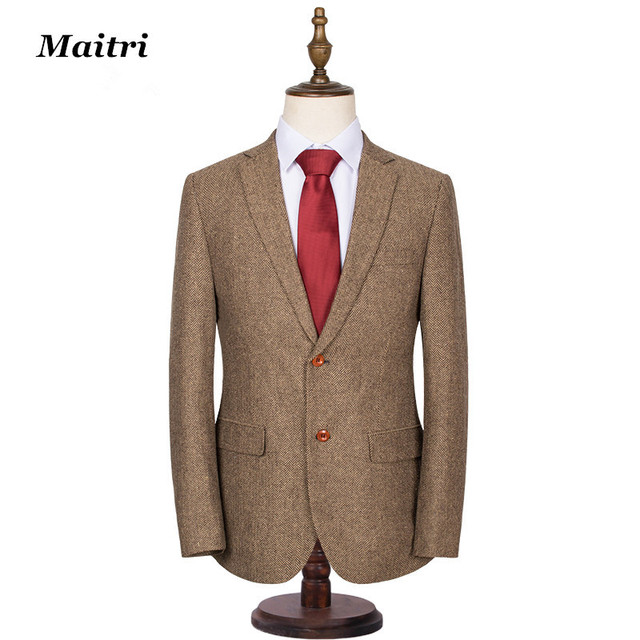 Aliexpress.com : Buy Maitri Men Suit Tweed Coat New Man ...