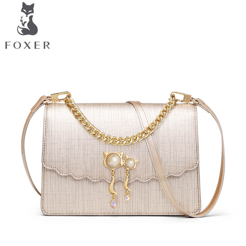 FOXER brand bags for women 2018 new women leather bag fashion small bag designer women leather handbags shoulder bag 2018 new foxer women leather bag fashion luxury small bags women famous brand designer shoulder bag handbags