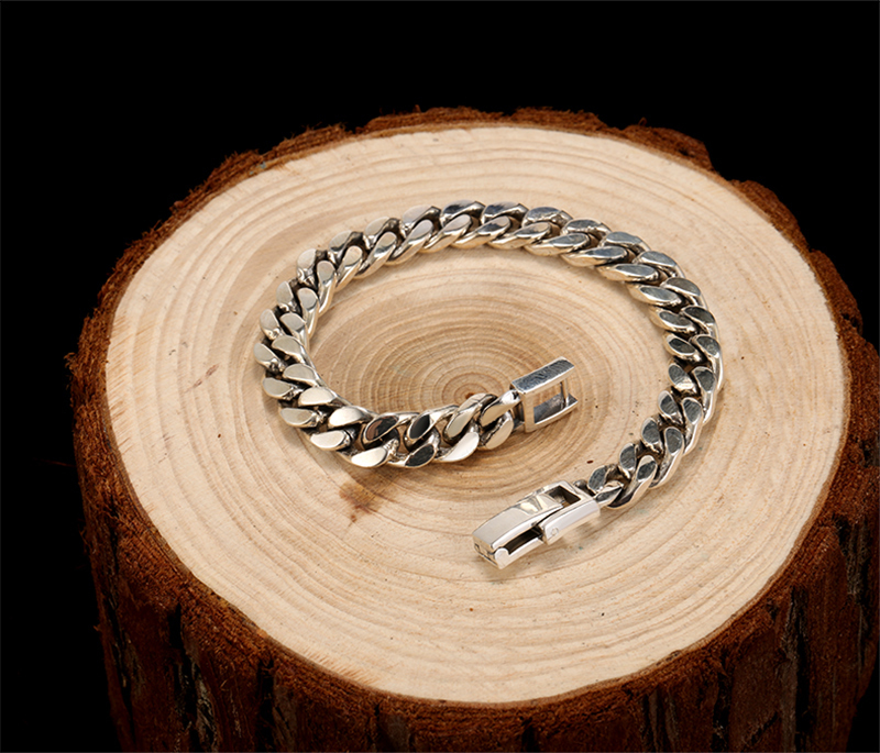 High Quality sterling silver bracelet men