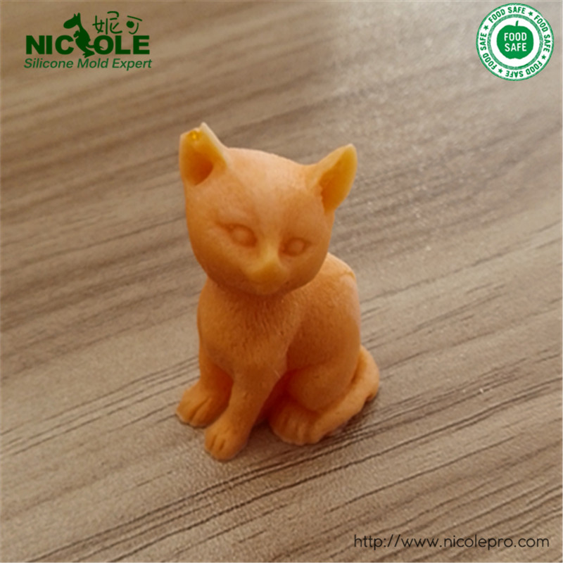 Free Shipping 3D Small Lovely Cat Soap Mould Silicone Candle Resin Mold