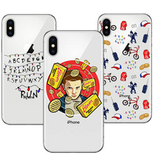 TV Stranger Things Design Clear TPU Soft silicone Phone Case Cover For iPhone X 5S SE 6S Plus  7 7Plus 8 8Plus Christmas Lights